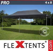 Foldetelt FleXtents PRO 4x8m Sort