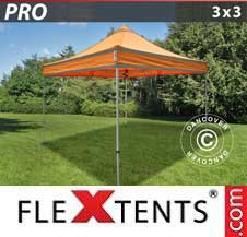 Foldetelt FleXtents PRO 3x3m Orange m/refleksbånd