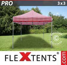 Foldetelt FleXtents PRO 3x3m stribet