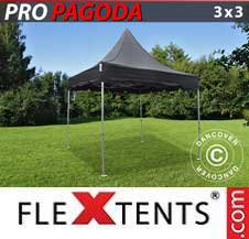 Foldetelt FleXtents PRO 3x3m Sort