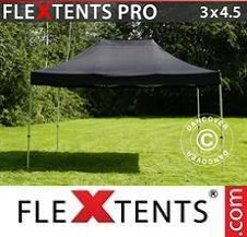 Foldetelt FleXtents PRO 3x4,5m Sort