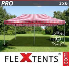 Foldetelt FleXtents PRO 3x6m stribet