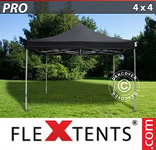 Foldetelt FleXtents PRO 4x4m Sort