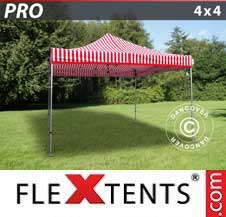 Foldetelt FleXtents PRO 4x4m stribet