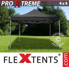 Foldetelt FleXtents PRO Xtreme 4x4m Sort