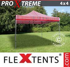 Foldetelt FleXtents PRO Xtreme 4x4m Stribet