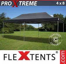 Foldetelt FleXtents PRO Xtreme 4x8m Sort