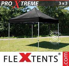 Foldetelt FleXtents PRO Xtreme 3x3m Sort