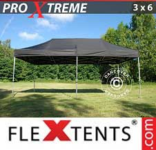 Foldetelt FleXtents PRO Xtreme 3x6m Sort